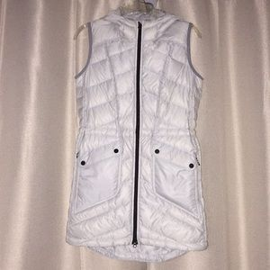 Athleta long length vest gray small preowned